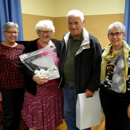Michèle Mathias et André Burgatt ont été remerciés pour leur investissement au sein de l'association.